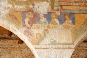 Chiesa di San Giorgio, affreschi della navata centrale: Cena di Betania