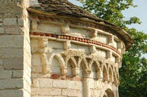 Chiesa di San Tomè, particolare delle decorazioni dell'abside
